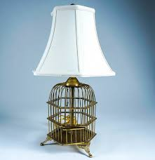 vintage currey and company bird cage lamp ebth