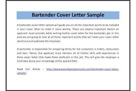 Sample Resume For Bartender by Bartender Cover Letter Sample Pdf Sample Bartender Resume Resume
