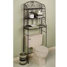 Decorative Bathroom Storage Cabinets Furniture For Bathroom Decoration Using Black Wrought Iron