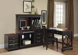Black Corner Computer Desk With Hutch Black Corner Computer Desk For Home Office Deboto Home Design