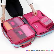 Georgia Travel Handbags images 6pcs waterproof cube travel storage bags clothes pouch nylon jpg