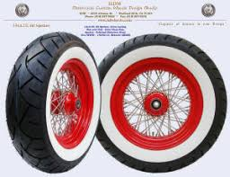 Double White Wall Motorcycle Tires 40 60 Spoke