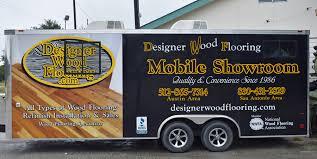 mobile showroom designer wood flooring