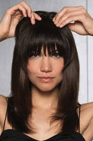 hairdo wigs clip in human hair fringe bangs by hairdo wigs
