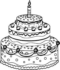 cake coloring pages u2013 wallpapercraft