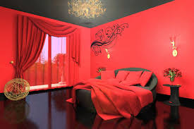 red painted rooms home design