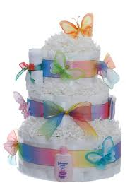 lil baby shower pastel baby butterfly 3 tier rolled cake baby shower