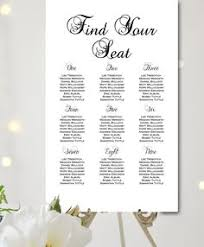 custom wedding seating chart template instant download free