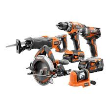 Home Depot Deal Of Day by Ridgid 18 Volt Lithium Ion Cordless Combo Kit 5 Tool Products
