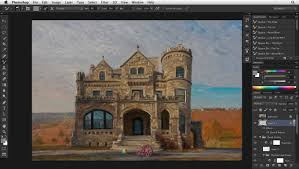digital painting in photoshop architecture