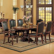 dining room table sets leather chairs rustic dining room table