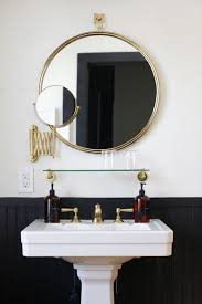 brass bathroom mirrors best 25 bathroom mirror with shelf ideas on pinterest bathroom