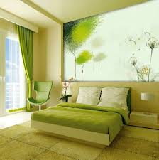 Green Wall Bedroom by Lime Green Bedroom With Wall Panel And Retro Chair Bedrooms