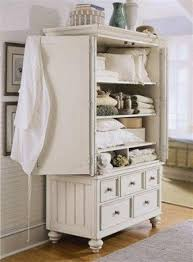 White Vintage Armoire Storage Armoire Furniture Foter