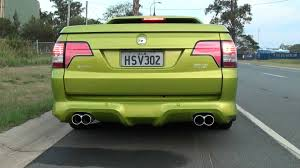holden maloo hsv ve maloo with walkinshaw exhaust youtube