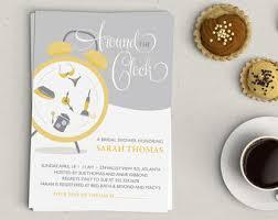 around the clock bridal shower around the clock bridal shower invitation printable or printed