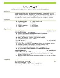 accounts payable resume exle best accounts payable specialist resume exle livecareer