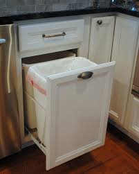 turn a door and drawer into pull out trash can kitchen island diy