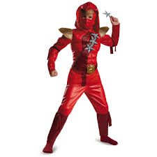 90 halloween costumes red fire ninja muscle child halloween costume walmart com