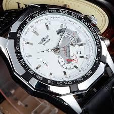 B Otisch Modern U106 Uhr In Chronograph Optik Mit Schwarzem Armband Amazon De Uhren