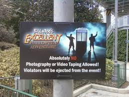 halloween horror nights hollywood map 2016 photography ban at bill and ted u0027s excellent halloween adventure