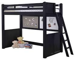 eberhardt twin size college loft bed black transitional kids