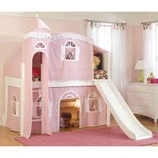 Cottage Deluxe Low Loft Tent Bed Hayneedle - Pink bunk beds for kids