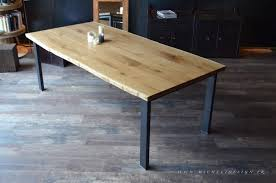 D Coratif Table A Manger Fabuleux Table Bois Massif Metal 261table Basse Contemporaine