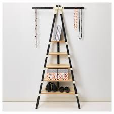 famed ladder shelves leaning together with decorating as wells as