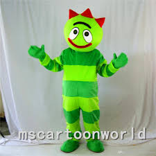 sales green yo gabba gabba mascot costume christmas halloween