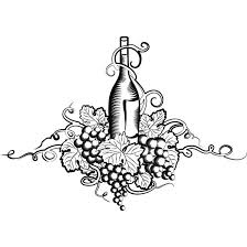 free vector vector grape wine line art sketch illustrationfree
