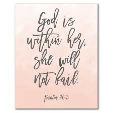 christian home decor god is within her she will not fail psalm