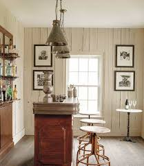 mini bar french farmhouse decorating with vintage pendant lighting