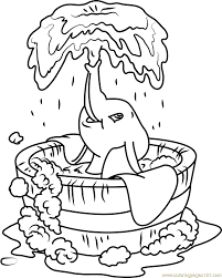 dumbo bath coloring page free dumbo coloring pages