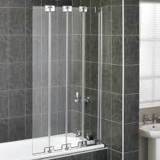 aqualux aqua 6 folding bath screen 1161771 6mm clear silver