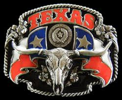 Cool Confederate Flag Pics Texas Longhorns Wstern Belt Buckle