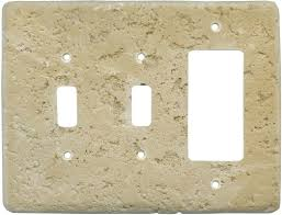 Travertine Switch Plates by Stonique Cocoa Light Switch Plates Outlet Covers Wallplates