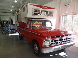 Classic Chevy Trucks 1965 - 1964 dreamer pickup camper ford f250 f 250 red truck photo vintage