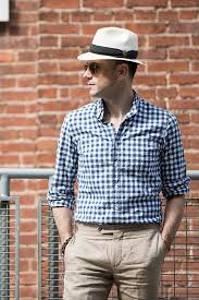 casual classics the blue gingham shirt he spoke style
