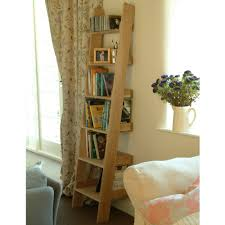Narrow Bookshelves - furniture raw oak small shelf ladder come with solid oak narrow