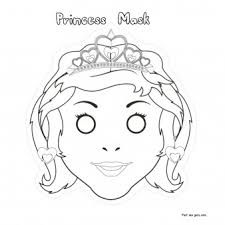 printable cut princess mask coloring mask printable