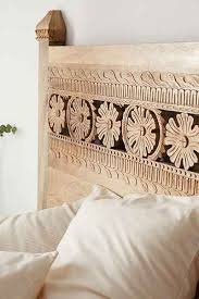 headboard reading ls bed pranati carved headboard bedrooms spaces and interiors