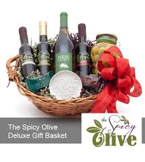 olive gift basket the spicy olive deluxe gift basket the spicy olive
