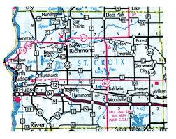 map st croix croix county map