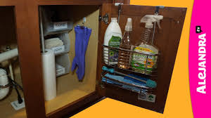 under cabinet shelf kitchen how to organize under the kitchen sink cabinet youtube