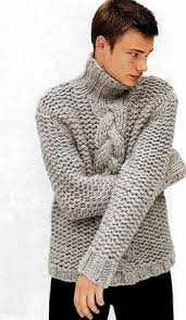 on sale hand knit men u0027s sweater with cable pattern por tvkstyle