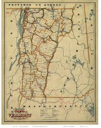 State Of Vermont Map by Vermont Maps