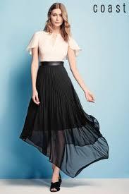 coast dress buy coast black blush hilly pleated dress from next ireland