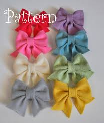 how to make baby hair bows felt bow pdf tutorial with printable templates hairclip brooch