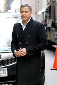 george clooney films some last minute re shoots for film money